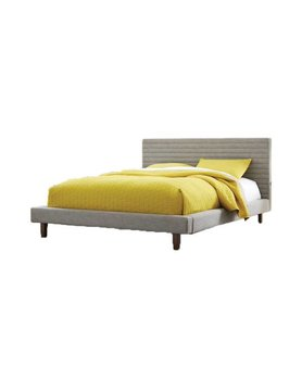Casana Channel Queen Bed Dark Grey