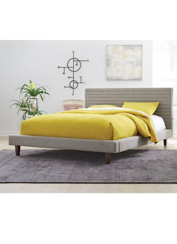 Casana Chanel Queen Bed Dark Grey