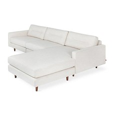 Gus Modern Logan Bi-Sectional (Wood Base)