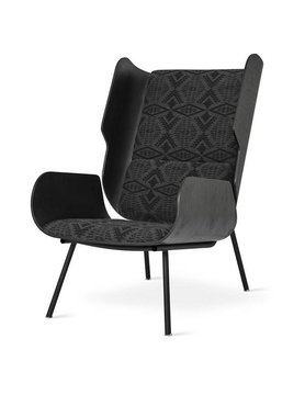 Gus Design Group Inc Elk Chair Pendleton Sunbrella Dia River Tonal Charcoal
