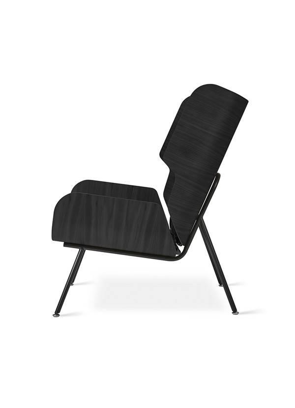 Gus Modern Elk Chair Pendleton Sunbrella Dia River Tonal Charcoal