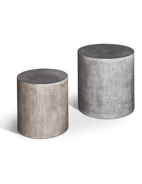 urbia Una Pedestal Dark Grey Set of Two
