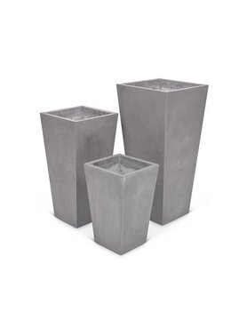 urbia Konus Planter Set of 3 Dark Grey