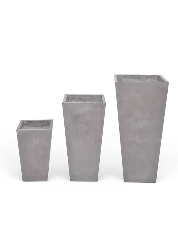 urbia Konus Planter Set of 3 Dark Grey