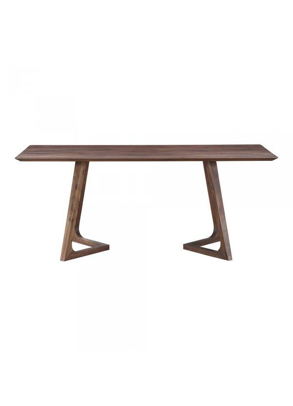 Moes Godenza Dining Table Rectangular Walnut