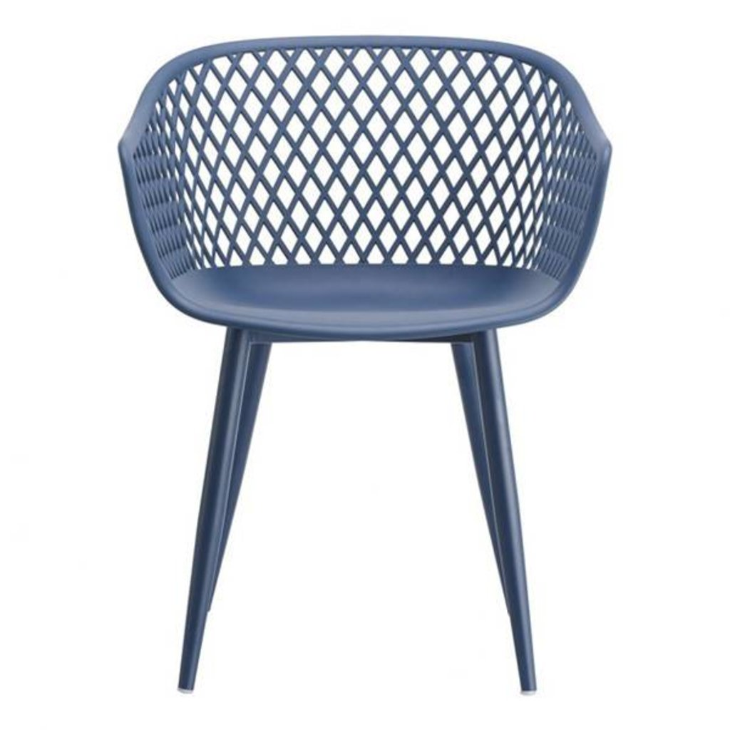 Moe's Home Collection Piazza Outdoor Chair Blue