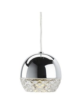 Nuevo Living QUARTZ  LIGHTING  PENDANT Polish  SS Clear