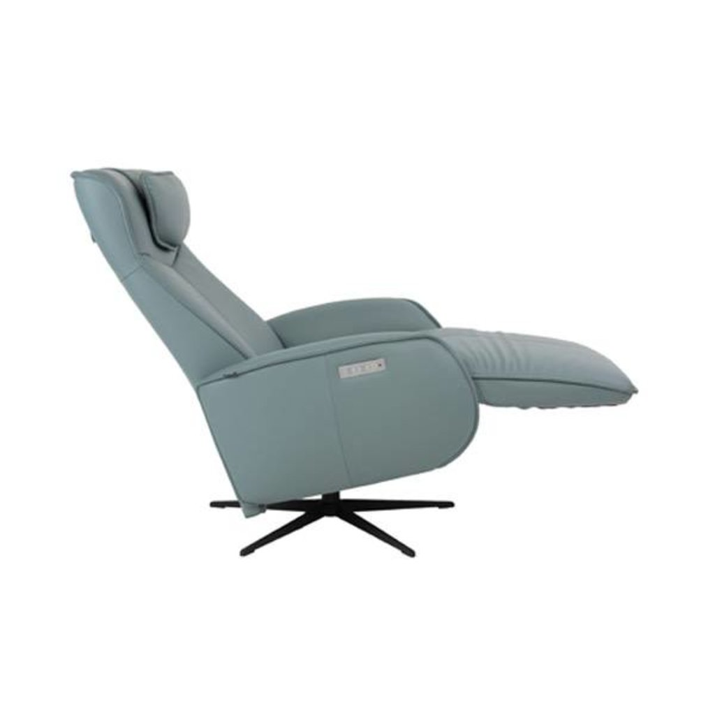 Fjords Axel Large Power Recliner W/Battery Black Star SL Ice 244