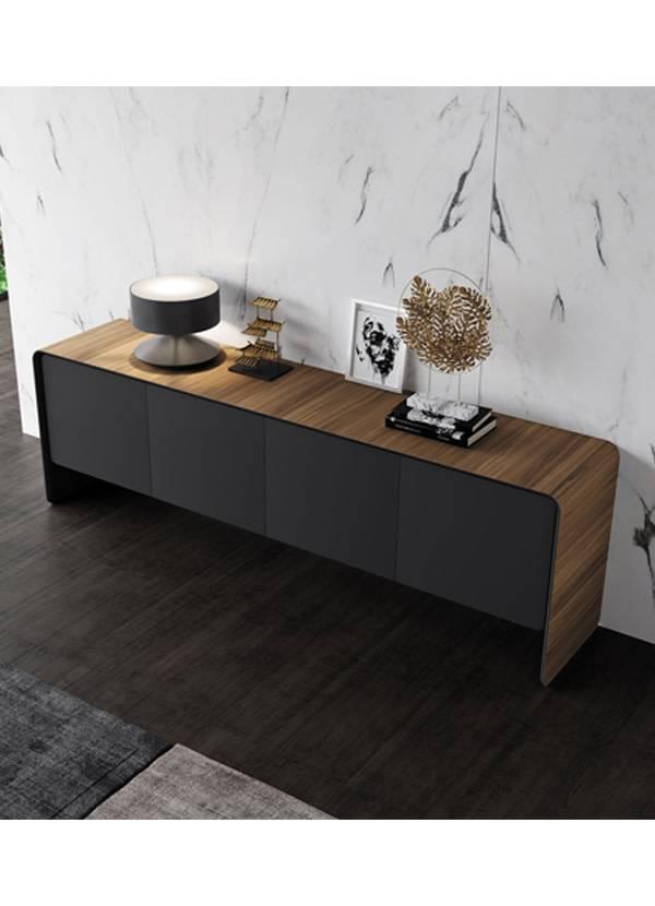 Modloft Kenley Sideboard Walnut and Graphite