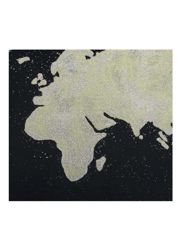 Moes BLACK MAP WALL DÉCOR