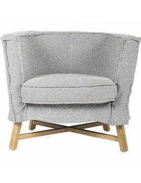 Moes GRAND CLUB CHAIR LIGHT GREY