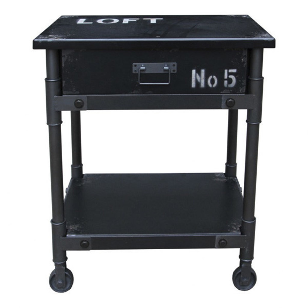 Moe's Home Collection Soho 1 Drawer Cabinet Black