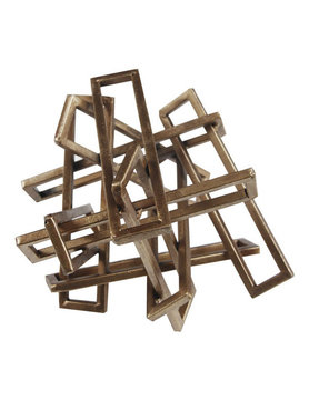 Moes TANGLED RECTANGLES SCULPTURE GOLD SMALL