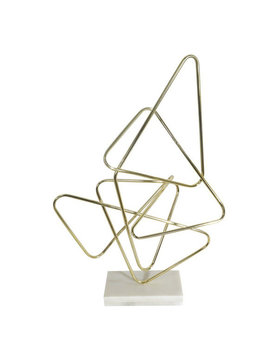 Moes POLYGON TABLE TOP DECOR GOLD