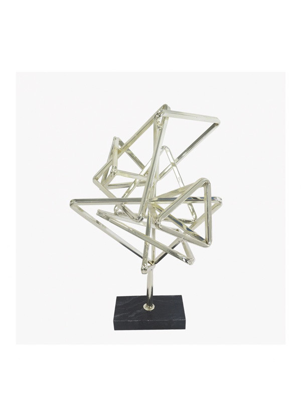 Moes GEOMETRY TABLE TOP DÉCOR SILVER