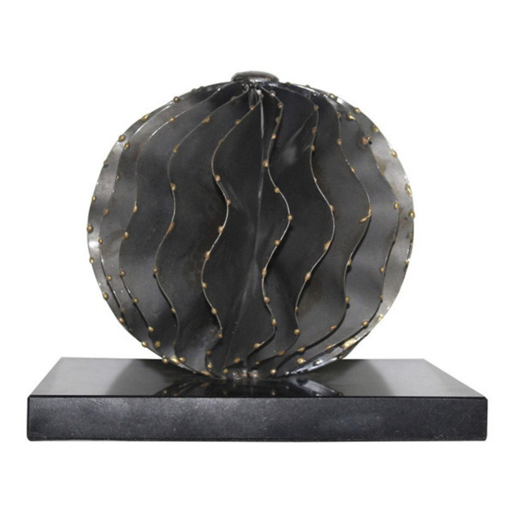 Moe's Home Collection Iron Orb Black Marble