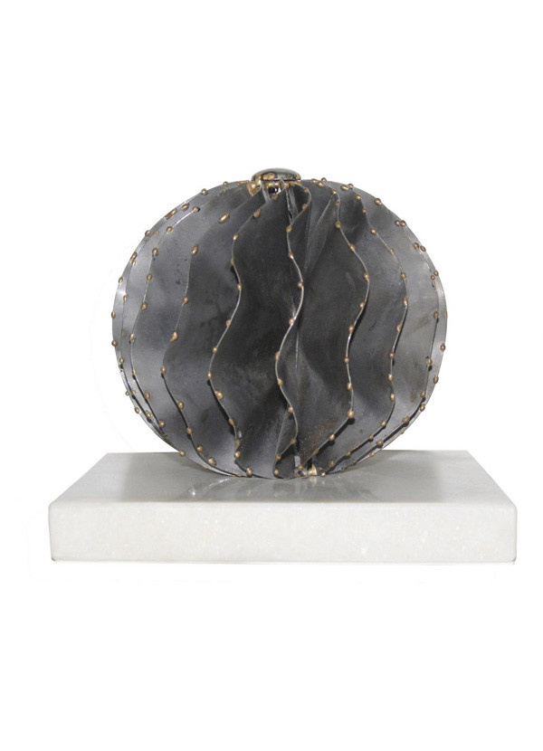 Moes IRON ORB WHITE MARBLE