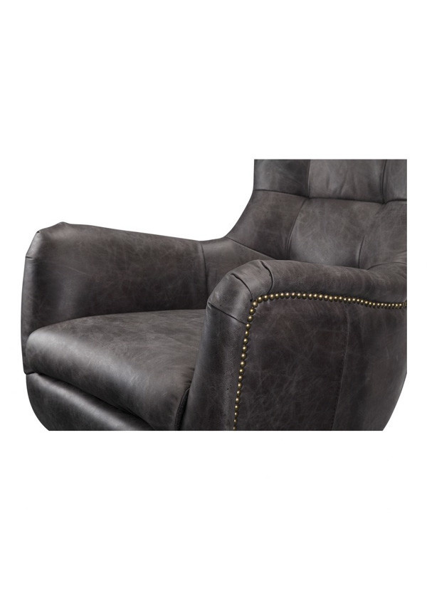 Moes APSLEY LEATHER SWIVEL CHAIR