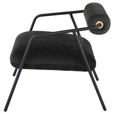 Nuevo Living Cyrus Occasional Chair Pewter Fabric