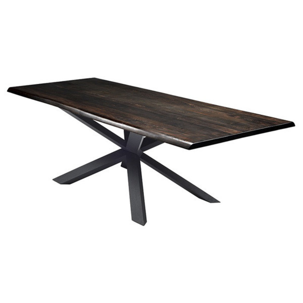 Nuevo Living Couture Dining Table Seared Oak Top