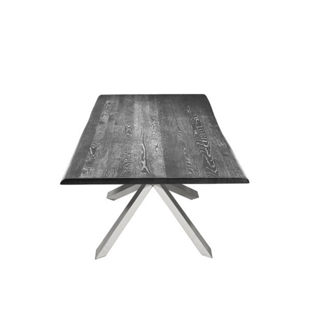 Nuevo Living Couture Dining Table Oxidized Grey Top