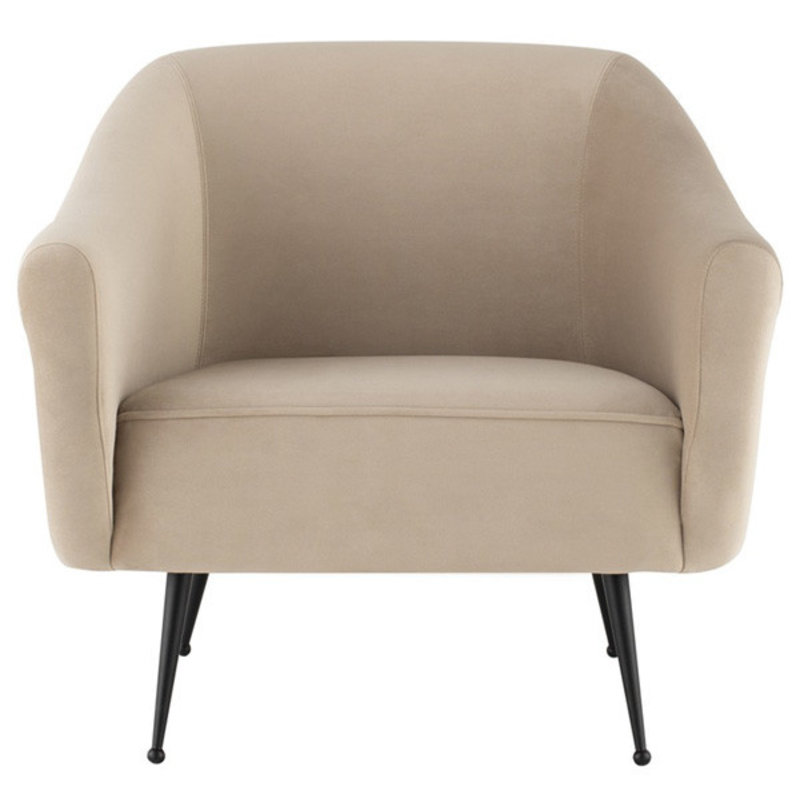 Nuevo Living Lucie Occasional Chair Nude Velvet
