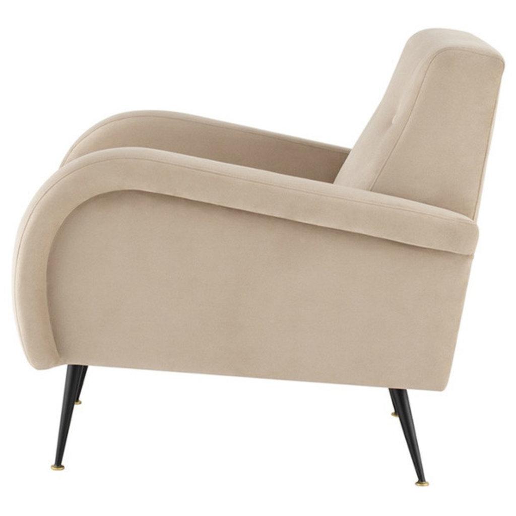 Nuevo Living Hugo Occasional Chair Nude Velvet