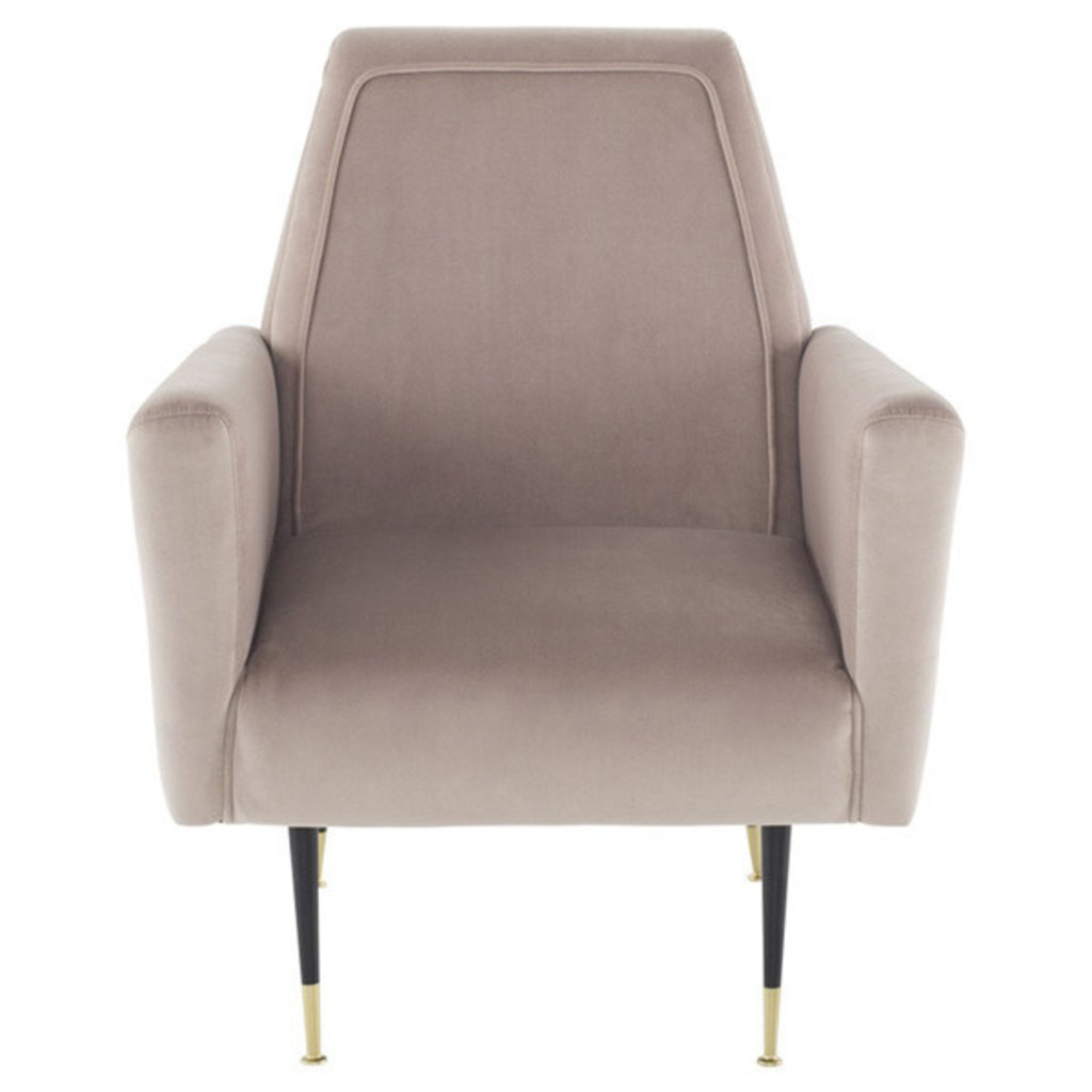 Nuevo Living Victor Occasional Chair in Blush Velvet