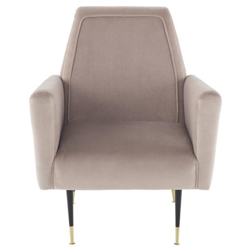 Nuevo Living Victor Occasional Chair Blush Velvet