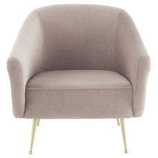 Nuevo Living Lucie Occasional Chair Blush Velvet