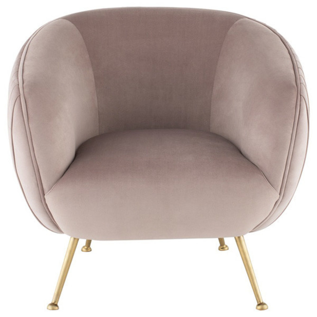 Nuevo Living Sofia Occasional Chair Blush Velvet