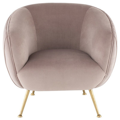 Nuevo Living Sofia Occasional Chair Blush Velvet
