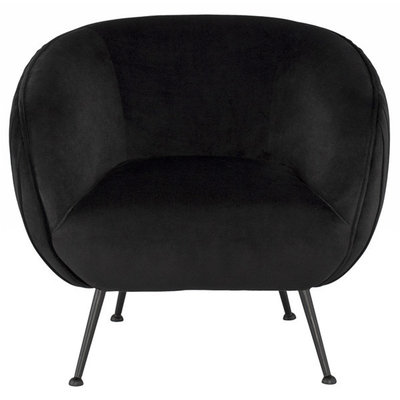 Nuevo Living Sofia Occasional Chair Black Velvet