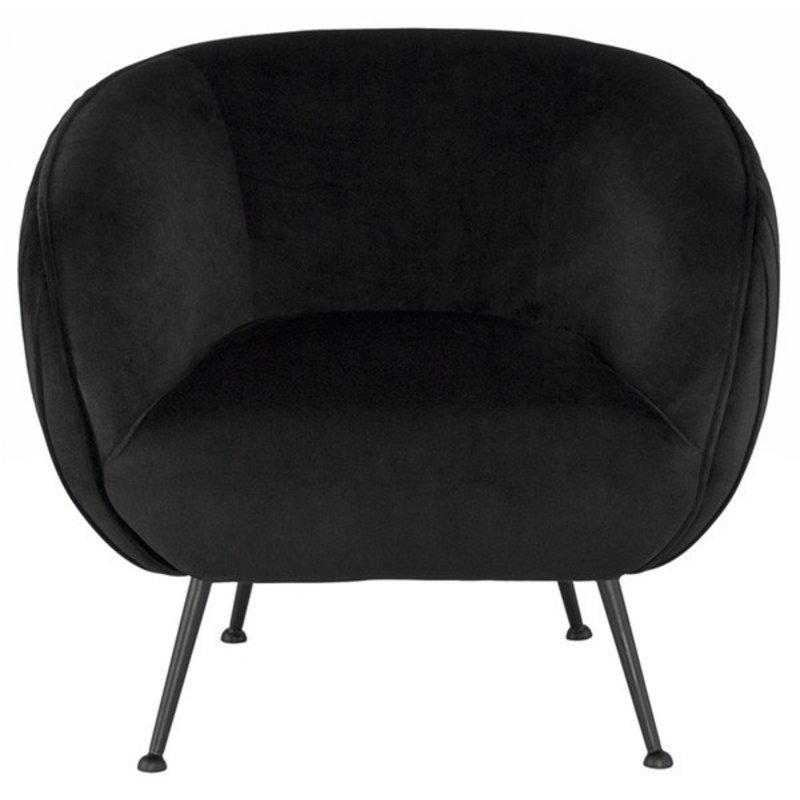 Nuevo Living Sofia Occasional Chair Black Velvet