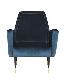 Nuevo Living VICTOR OCCASIONAL CHAIR MIDNIGHT BLUE