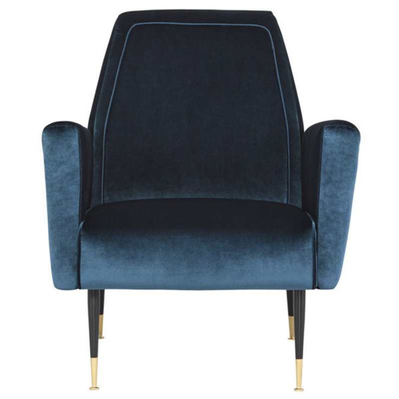 Nuevo Living Victor Occasional Chair Blue Velvet