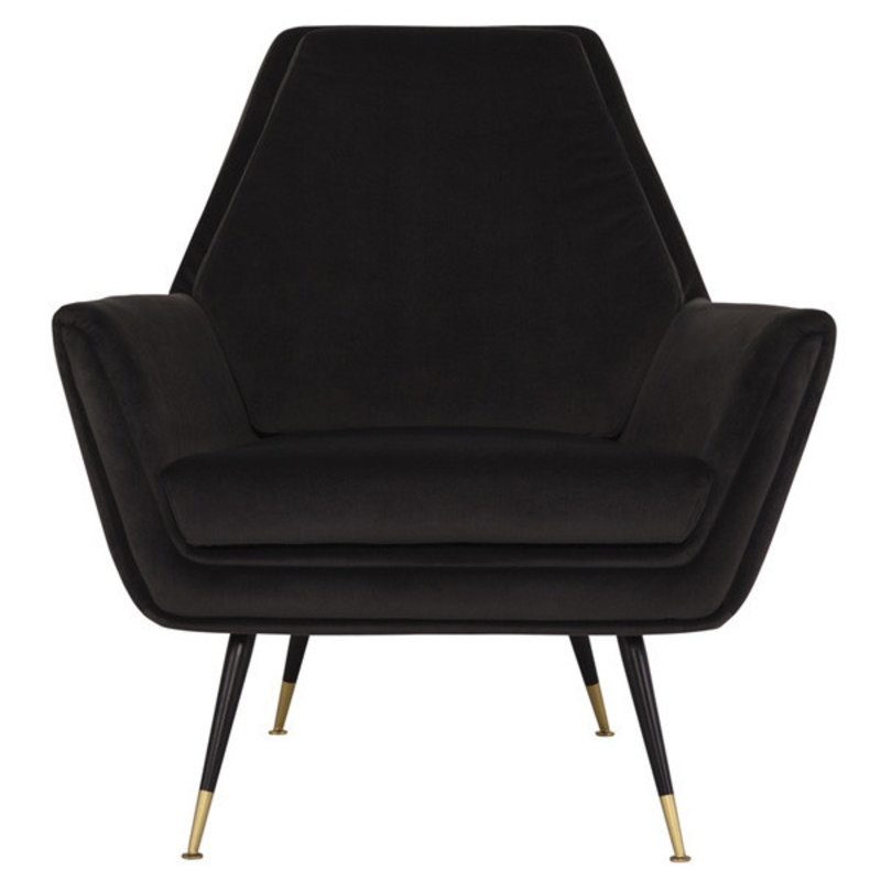 Nuevo Living Vanessa Occasional Chair Shadow Grey Velvet