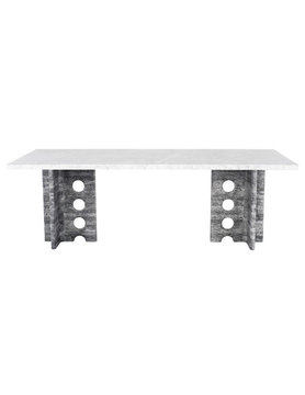 Nuevo Living FOUNDARY DINING TABLE WHITE
