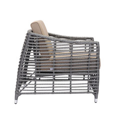 Zuo Modern Trek Beach Arm Chair Gray & Beige