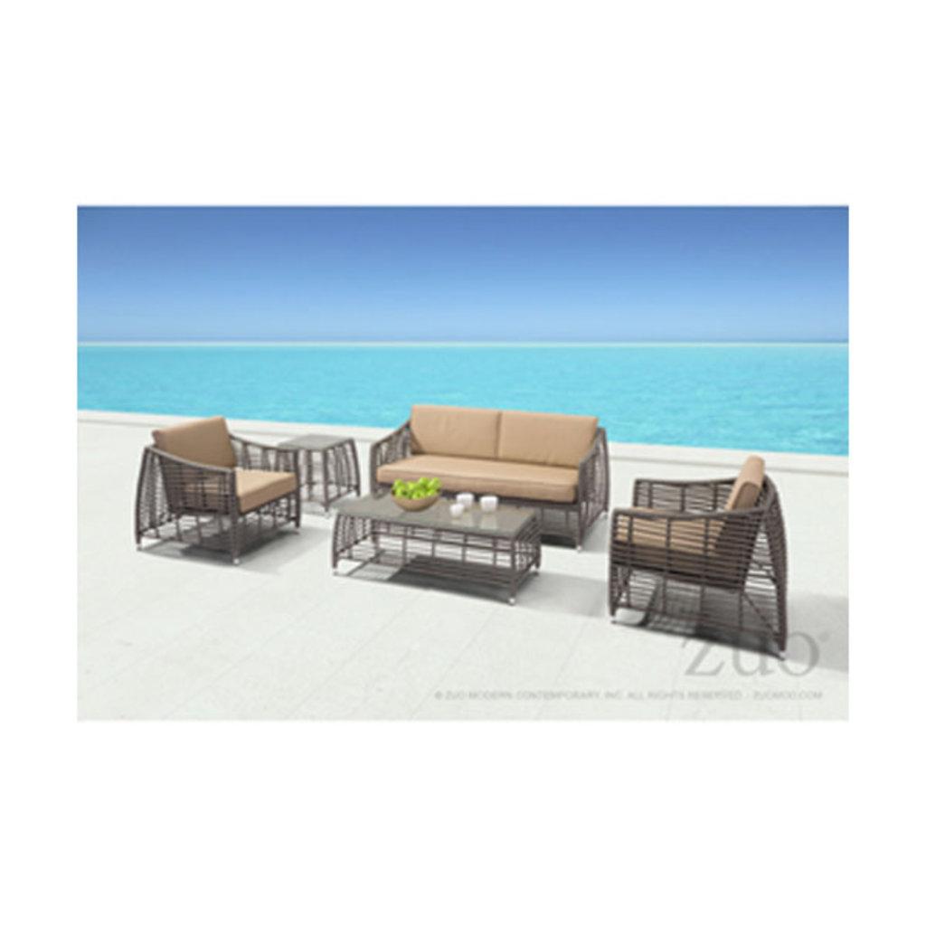 Zuo Modern Trek Beach side Table Gray and Beige