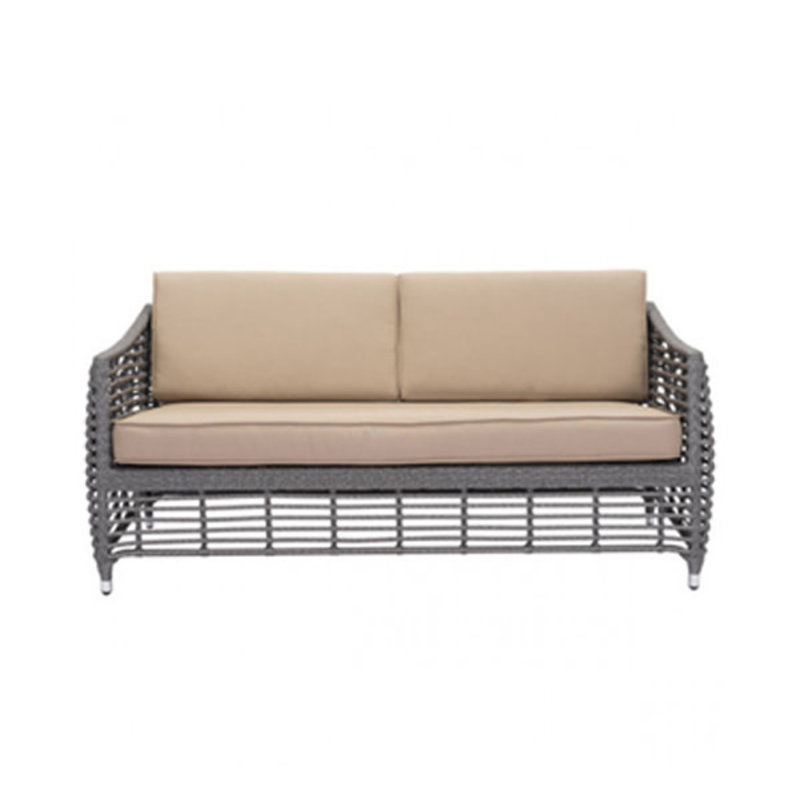 Zuo Modern Trek Beach Sofa  Gray and Beige