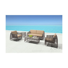 Zuo Modern Trek Beach Sofa  Gray and Beige