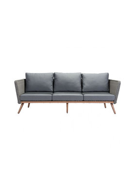 Zuo Modern MONACO SOFA NATURAL & GRAY