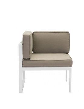 Zuo Modern GOLDEN BEACH CORNER WHITE & TAUPE