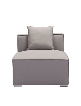 Zuo Modern FIJI MIDDLE CHAIR GRAY