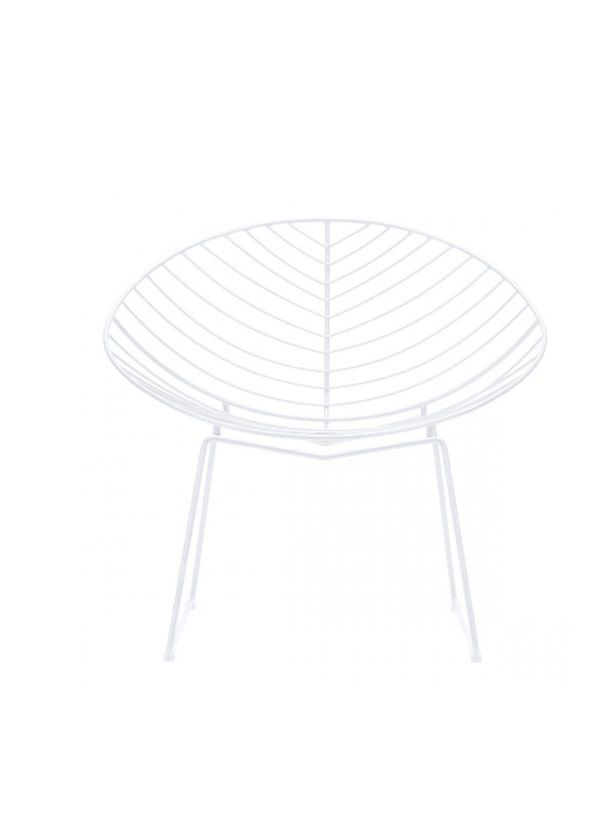 Zuo Modern HYDE OUTDOOR LOUNGE CHAIR WHITE