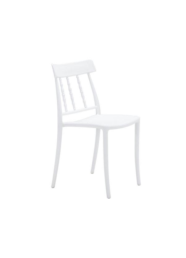 Zuo Modern RIFT DINING CHAIR WHITE