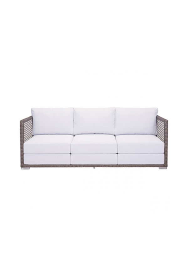 Zuo Modern Coronado Sofa Cocoa & Light Gray