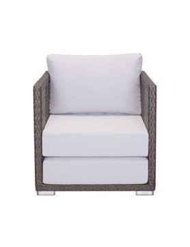 Zuo Modern Coronado Arm Chair Cocoa & Light Gray