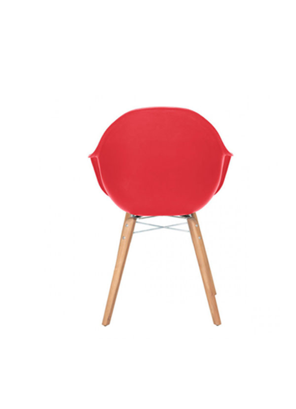 Zuo Modern TIDAL DINING CHAIR RED